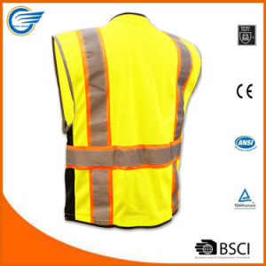 Class 2 Breathable Mesh Reflective Safety Vest with Heavy Duty Zipper pictures & photos