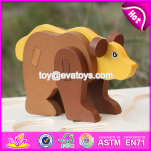 New Product Children DIY Wooden Animals Puzzle Games W14G039 pictures & photos