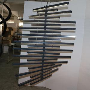 Restaurant Decorative Graphite Grey LED Light Bar Twist Pendant Lamp pictures & photos