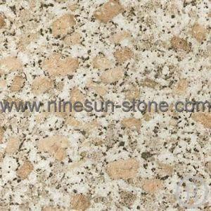 Polished Three Coarse Grain Granite Slab