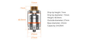 Geekvape Ammit Dual Coil Rta Tank with 3ml/6ml Capacity Ammit Dual Coil Version pictures & photos
