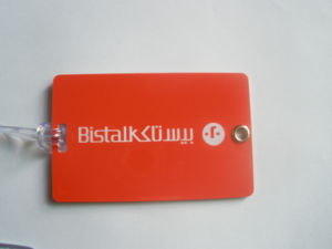 Luggage Card (hard plastic)