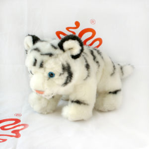 Plush Faux Fur White Tiger Toy pictures & photos