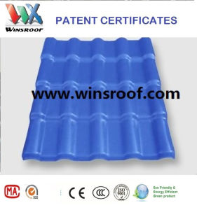 Winsroof Asa Synthetic Resin Roof Tile Tejas Colonial Azul Color pictures & photos