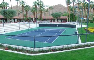 Two Layer Elastic PU Sports Court (Tennis Court)