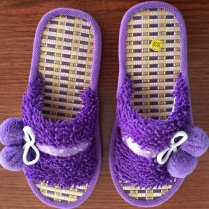 2015 Open Toe Flax Insole Summer Indoor Slippers
