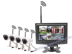 7inch Digital Wireless Camera with Monitor, Wireless DVR Kit, Two Way Talk, SD-Card Recording pictures & photos
