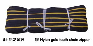 5# Nylon Gold Teeth Chain Zipper (JG7003)
