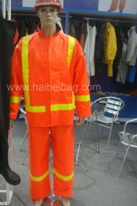 PVC Reflective Raincoat pictures & photos
