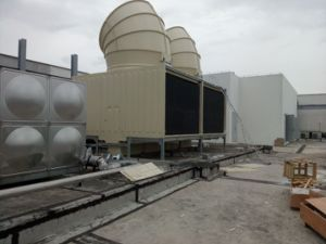 Jn-400d Cross Flow Square Water Cooling Tower with Fan Hood pictures & photos