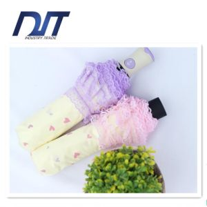 Lace Fresh in Light Full Automatic Flower Love Lady Umbrella pictures & photos