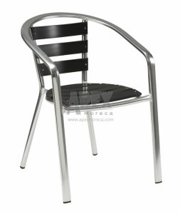 Aluminium Non Wood Chair Outdoor Furniture Cafe Furniture pictures & photos