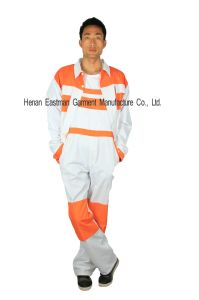 Customised Contrast Color Workwear Suit pictures & photos