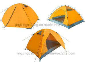 2 Persons Hot Waterproof Polyester Camping Tent (JX-CT025-1) pictures & photos