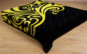 100% Polyester Printed Personatity Raschel Blanket