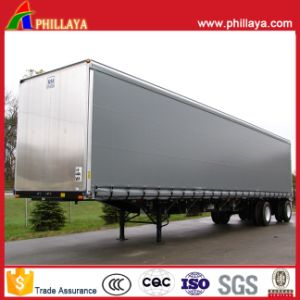 3 Axles Aluminum Enclosed Strong Box Van Semi Trailer pictures & photos
