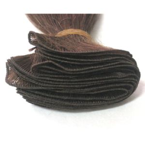 Tangle Free Hand Tied Human Hair Weft pictures & photos