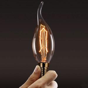 Vintage E14 LED Bulbs Water Ripple Tail FC35 Edison Bulb (MC-QP-1026)