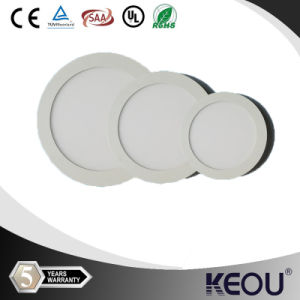 230V Waterproof White Aluminum Housing Round LED Panel pictures & photos