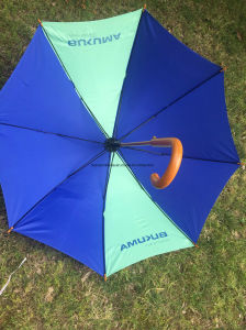23′′ Wood Shaft and Wood Handle Umbrella with 190t Nylon Fabric pictures & photos