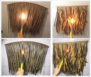 Flame Resistant Synthetic Thatch for Exterior Use at Sea Level Resorts pictures & photos