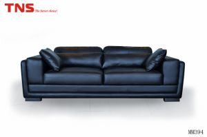High Density Sponge Corner Italy Leather Sofa with Wood Leg (mm394)