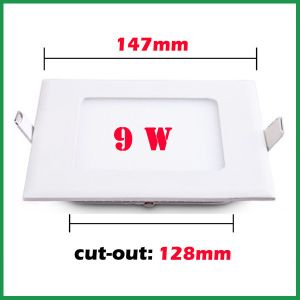 85-265V 9W Square Thin LED Panel Lamp pictures & photos