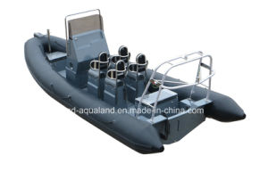 Aqualand 21feet 6.4m High Quality Rib Motor Boat/Military Inflatable Patrol Boat (rib640t) pictures & photos