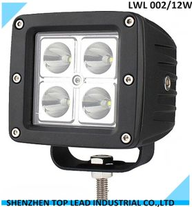 10-30square 12 Walt IP 67 LED Work Light for off Road, ATV, SUV, 4X4 LED Working Light