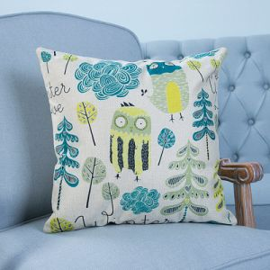 Digital Print Decorative Cushion/Pillow with Owl Pattern (MX-15D) pictures & photos