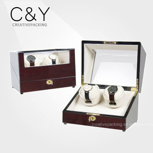 High Quality Piano Lacquer Wood Dual Automatic Watch Winder pictures & photos
