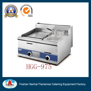 Hgg-975 Gas Griddle with Gas Fryer pictures & photos