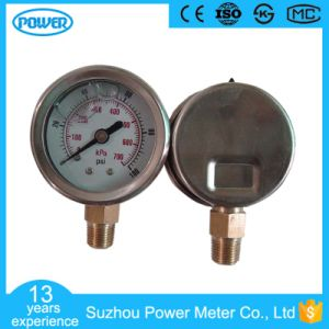1.5′′ 40mm Stainless Steel Bottom Connection Glycerin Filled Manometer pictures & photos