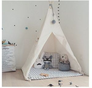 Indian Children Teepee Wooden Tent with 100% Cotton