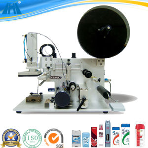 Semi-Automatic Flat Bottle Labeling Machine for Pouch