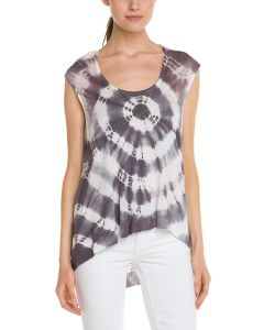 Ladies′ 95%Viscose 5%Spandex Tie Dye T-Shirt