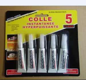 5 Tubes Rapid Bond Colle Cyanoacrylate Super Glue Liquido pictures & photos