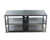 Universal Product Modern Faced Metal Glass TV Stand pictures & photos
