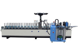 Hotmelt (PUR) Wrapping Veneer Machine for Doors and Desks Strong Adhesion pictures & photos