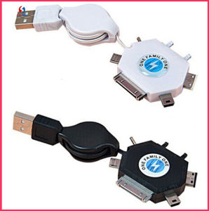 Wholesale 6in1 Mobile USB Date Cable pictures & photos