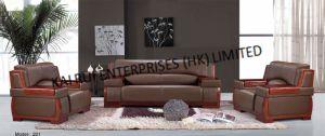 PVC Brown Home Furniture Modern Sofa