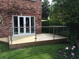 Glass Railing Professional Balustrade Tempered Glass Railing pictures & photos