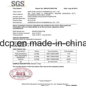ISO Certificated 18% Feed Grade DCP pictures & photos