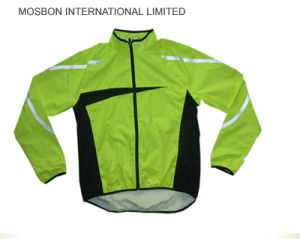 High Reflective Waterproof PU Rain Jacket Hooded with Rainsuit pictures & photos