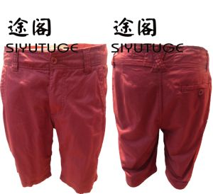 Mens Fashion Cotton Garment Dyed Casual Shorts pictures & photos