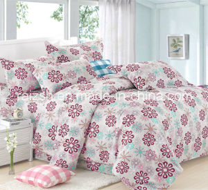 100% Cotton Wholesale Flower Printed Denim Fabric for Bedding Sets