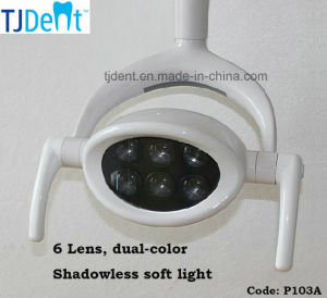 Dental 6 LED Shadowless Dual Color Operation Light Lamp (P103A) pictures & photos