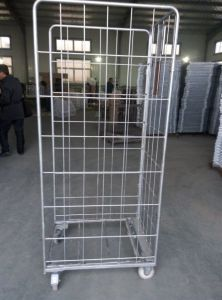 Wire Mesh Roll Container / Trolley pictures & photos
