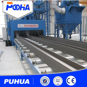 Long Profile Beam Structure Roller Type Sand Blasting Machine pictures & photos