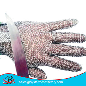 Chain Mail Cut Resistant Wire Mesh Gloves pictures & photos